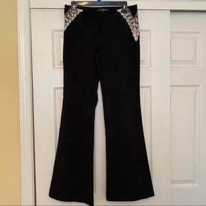 HEART MOON STAR | Black Pants with Lace  Size 6.